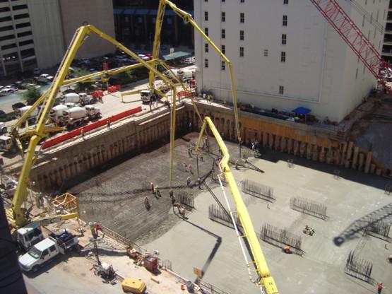 Mass Concrete Foundation Placement
