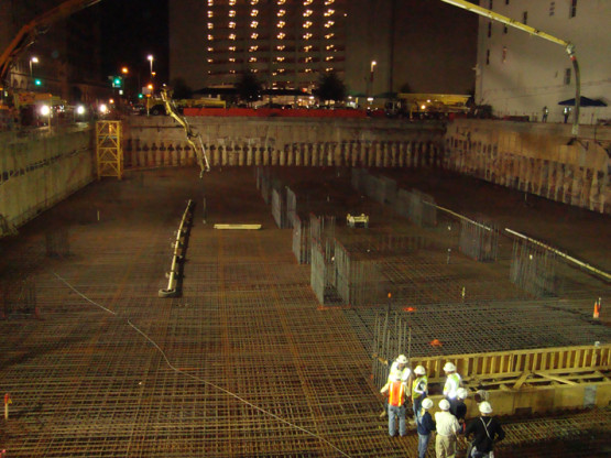 Mass Concrete Foundation Placement and Monitoring