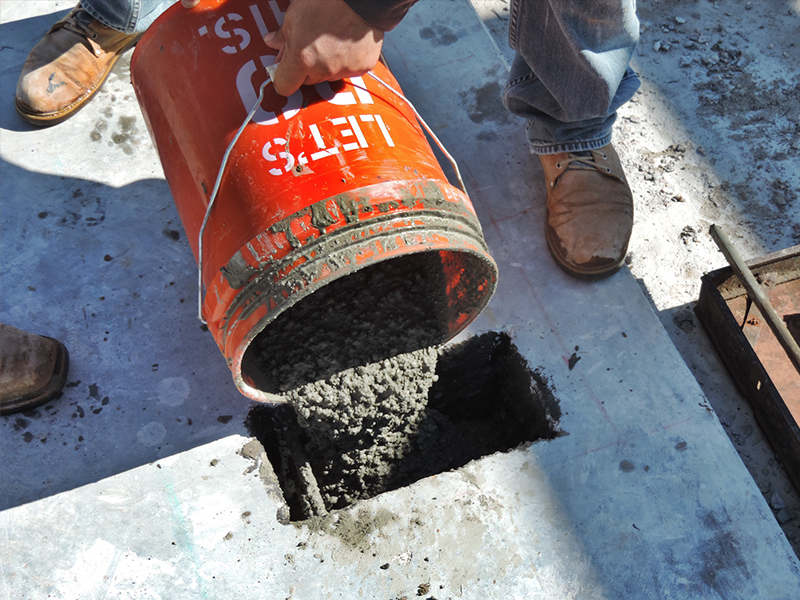 ndt assessment of cast in place concrete framing