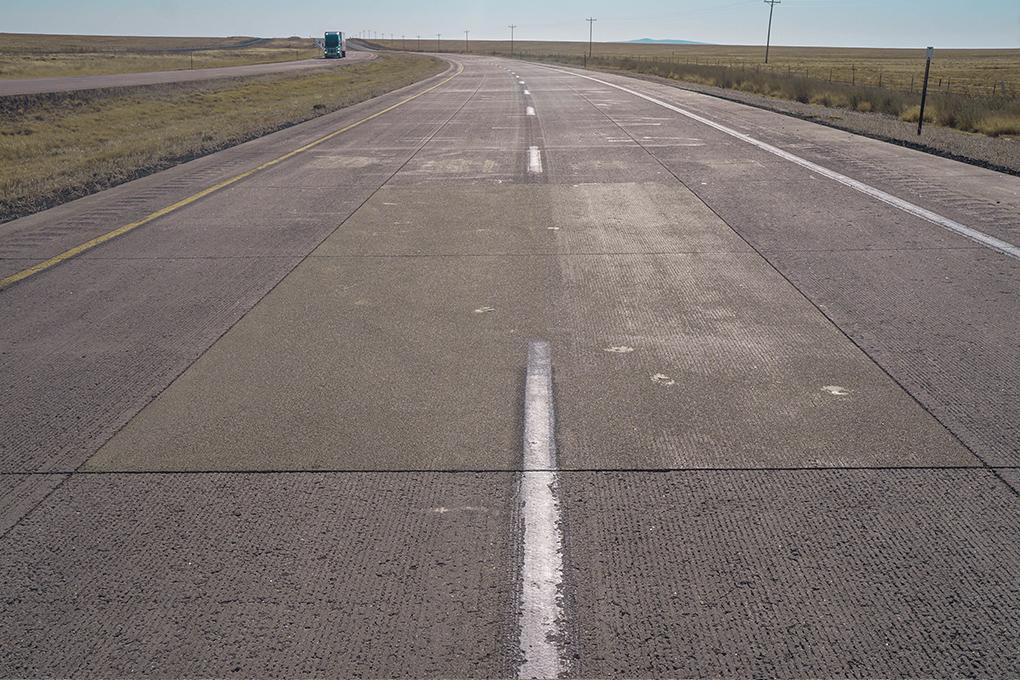 Rigid pavement, local roads