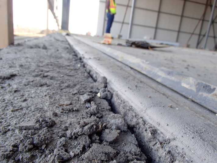 Mud Slab Movement At A Cold Storage Distribution Facility